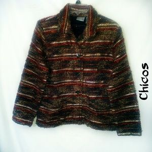 Gorgeous fall colors blazer by Chicos